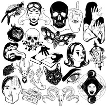 Vector Set Of Hand Drawn Illus...