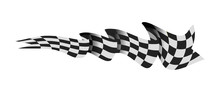 Checkered Race Flag Illustration Isolated On White