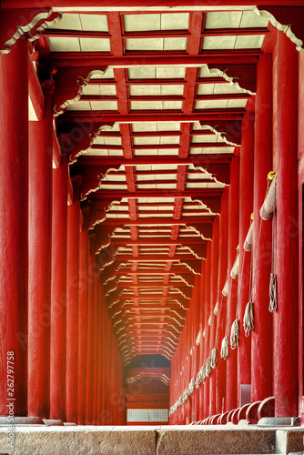 Valokuvatapetti The red porch in Jongmyo Shrine. Seoul, Korea.