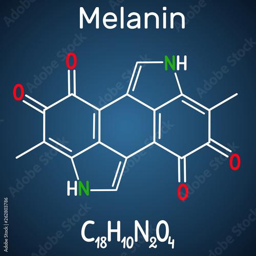 Photo  Melanin  molecule