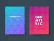 Set of two modern cover design with geometric shape and vibrant gradient. Template for poster, cover, banner, flyer