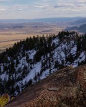 A Geologic Survey Marker In Colorado