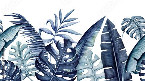 tropikalna-bezszwowa-granica-akwarela-lisci
