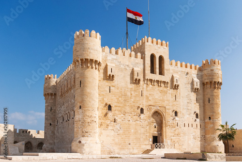 Citadel of Qaitbay fortress and its main entrance yard Fototapete
