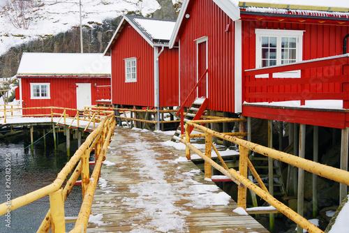 Fototapety, obrazy: Nussfjord village, Lofoten Islands. Norway`s historic fishing village on the water, Europe