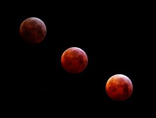 Moon eclipse montage