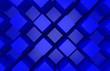 Leinwanddruck Bild - 3d rendering. modern abstract random blue square cube box bar stack wall design art background.