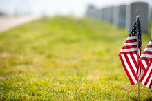 American Flag On The Grass