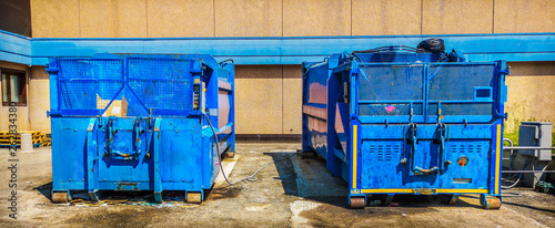 Photo  press container waste compressor industrial garbage