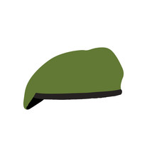 Green Beret Hat Isolated On White Background