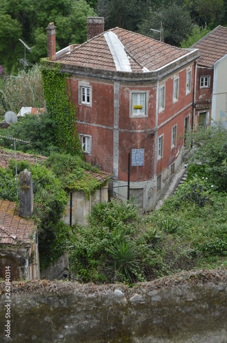 Fotografía  Picturesque Building In Hospital Stairs In Sintra