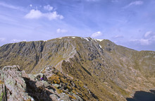 Striding Edge, A Classic Ridge Route Onto Helvellyn In The Lake District
