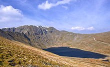 Helvellyn Striding Edge And Red Tarn