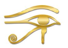 Golden Eye Of Horus. Ancient E...