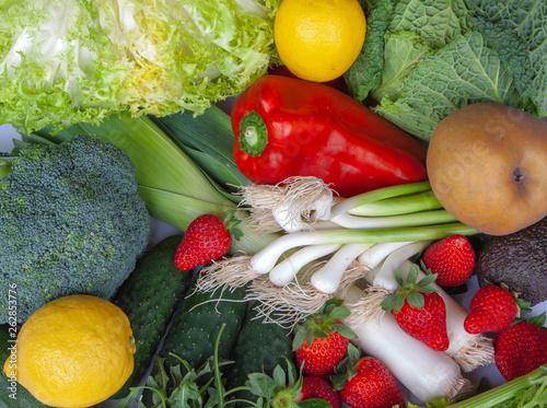 Canvastavla Comida saludable