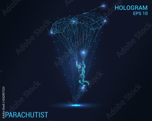 Fotografie, Obraz Parachutist hologram