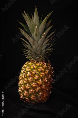 Fototapety, obrazy: tropical ripe fruit pineapple