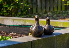 Wooden Bird Statuettes, Modern Garden Decorations, Fake Ducks To Decorate The Backyard
