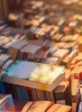 Book Fair.Many Books In A Row.