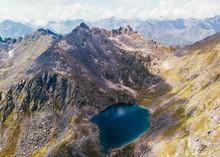 Alaskan Alpine Lake Aerial