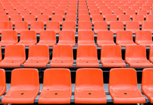 Empty Red Seats In The Stadium