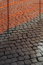 Cobblestone Pavement And Restricting Net