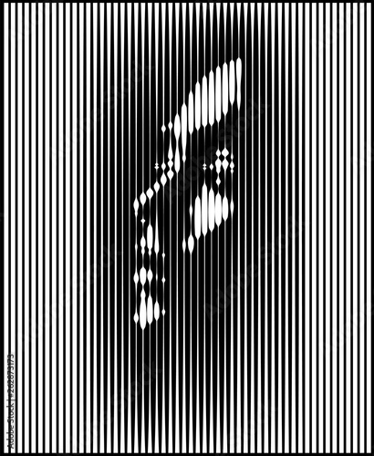 Fotografía  Parallel Line Art Face
