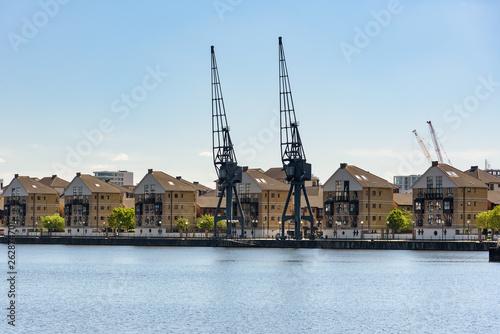 Houses at Royal Victoria Dock in London © mkos83