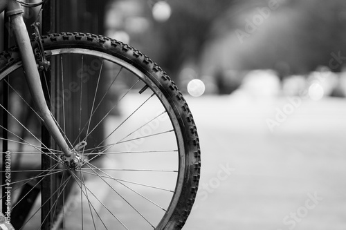 Papiers peints Velo Bike Wheel In The City