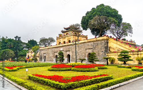 Doan Mon, the main gate of Thang Long Imperial Citadel in Hanoi, Vietnam