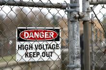 A Danger Sign Warning Of High ...