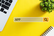 canvas print picture - APP Concept For Business