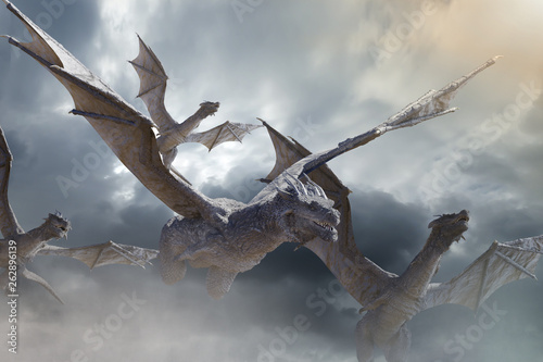 Obrazy smoki the-dragon-fly-3d-render