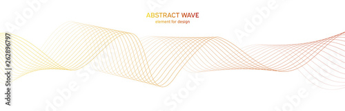 Montage in der Fensternische Abstrakte Welle Abstract colorfull wave element for design. Digital frequency track equalizer. Stylized line art background.Vector illustration.Wave with lines created using blend tool.Curved wavy line, smooth stripe