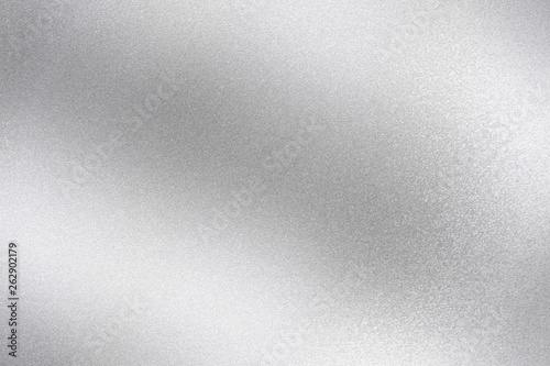 Pinturas sobre lienzo  Shiny silver foil wave metal , abstract texture background