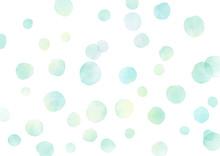 水彩 テクスチャ にじみ 水玉 泡 背景 緑