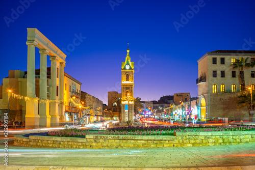 Fotografia  Jaffa Clock Tower at Yefet street near Tel Aviv
