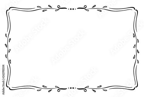 Obraz クラシックなフレーム 1色 - fototapety do salonu