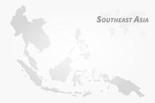 Southeast Asia Map . High Detail Dot Design  . Vector