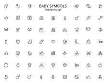 Baby Big Line Icon Set