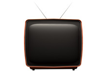 Retro Tv Isolated On White Bac...