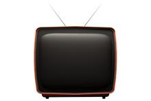 Retro Tv Isolated On White Background. 3D Illustration
