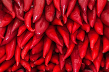 Background Of Red Anaheim Peppers