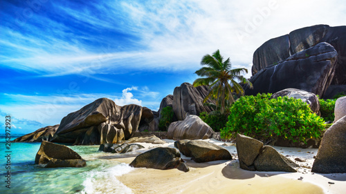 Fotografia  Paradise beach at anse source d'argent on the seychelles 115