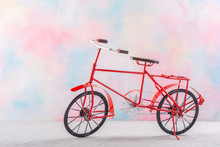 Vintage Bicycle On A Colored B...