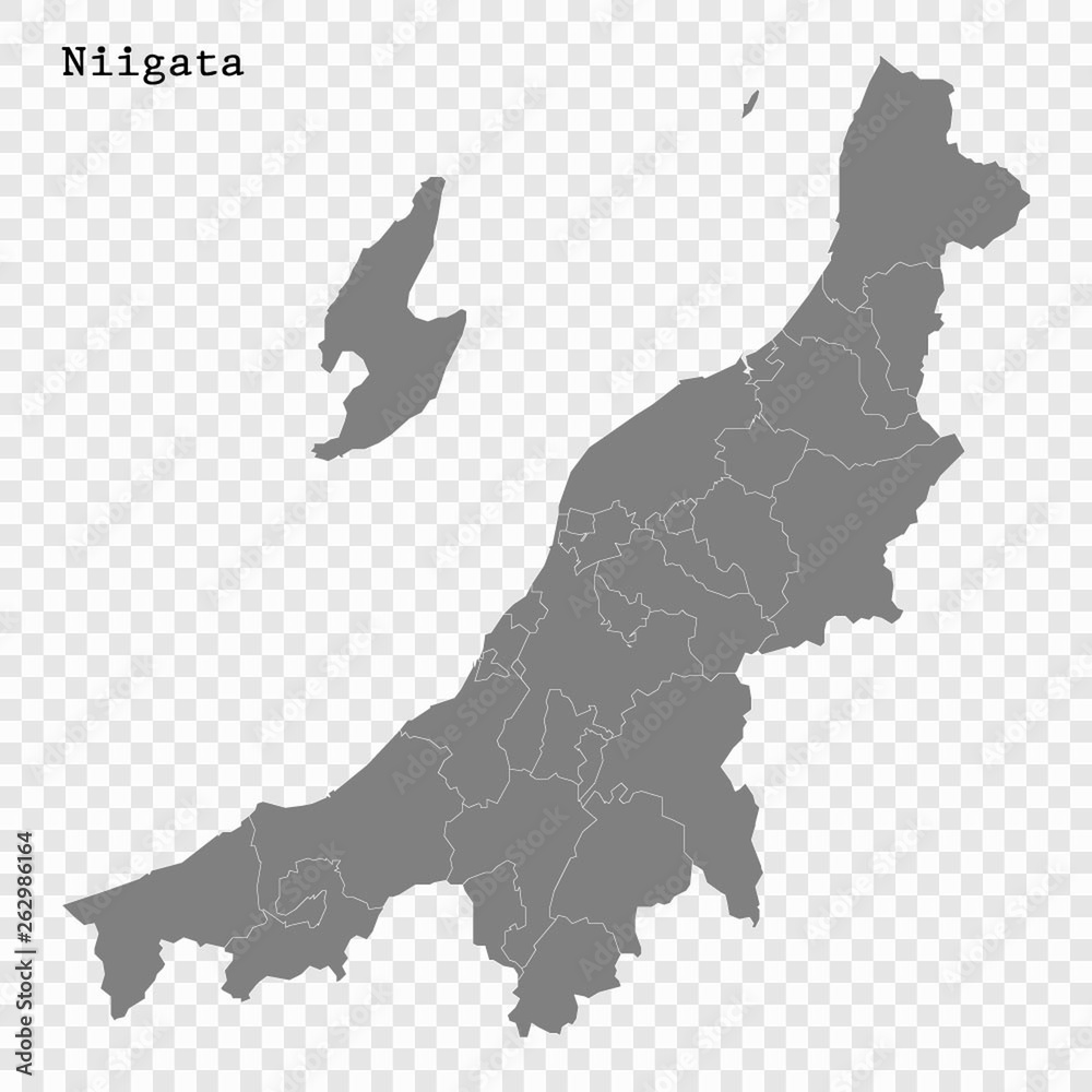 Fototapety, obrazy: High Quality map prefecture of Japan