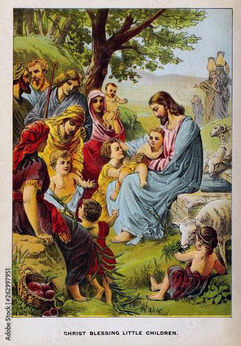 Slika na platnu Christian illustration. Old image