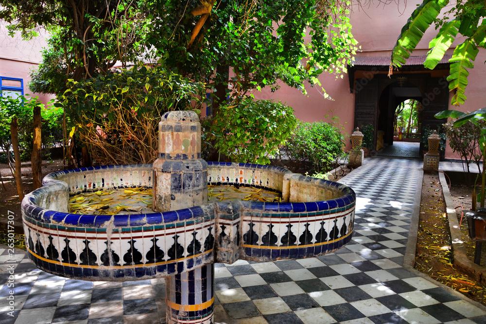 Fototapeta piękny ogród, Maroko