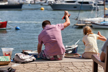 A Father And Daughter Crabbing...