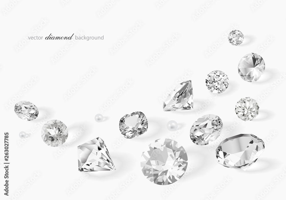 Fototapeta Luxury background with diamonds for modern design
